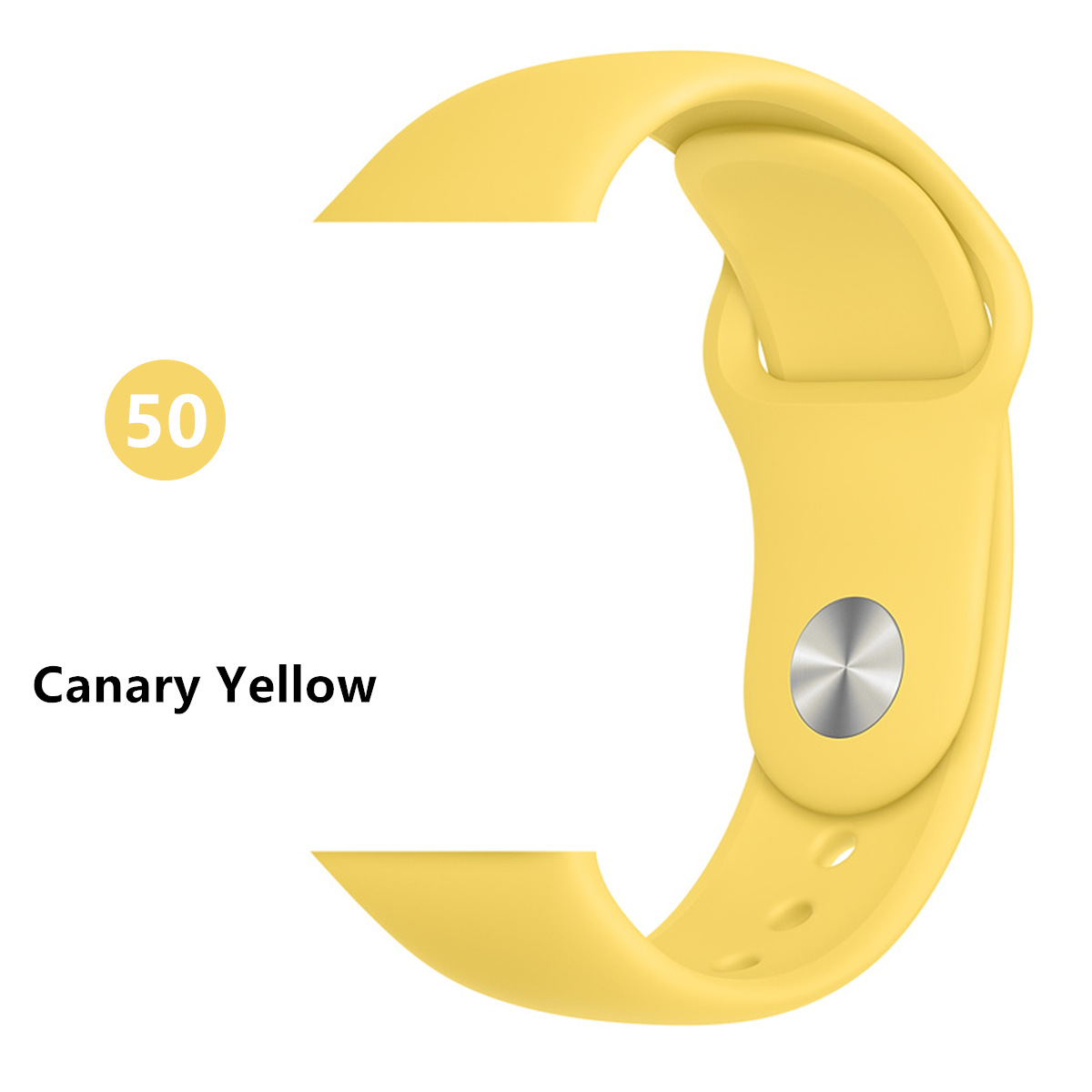 Ремешок для Apple Watch 38 мм 42 мм iWatch 4 ремешка 44 мм 40 мм спортивный силиконовый ремень браслет Apple watch 5 4 3 2 Аксессуары для ремешка - Цвет ремешка: Canary Yellow
