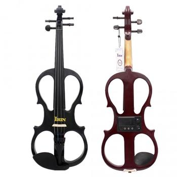 Stylish High Grade Maple Wood Electroacoustic 4/4 Maple Violin Fiddle Black / Brown Optional with Case Headset Cable Rosin irin 4 4 wood maple electric violin fiddle with ebony fittings cable headphone case black