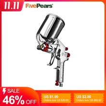 Fivepears W71 Air Verfspuitpistool 1.3/1.5/1.8Mm Nozzle 400/600 Ml Aluminium Cup Hvlp Professionele Airbrush voor Auto S