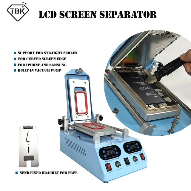Marco de pantalla LCD para pantalla curva plana, marco de pantalla LCD con calefacción, Marco medio de cristal, TBK 268 auténtica, Máquina separadora