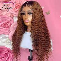 Pre arrancado peluca con malla frontal s Ombre cabello humano peluca con malla frontal 13X6 pelucas con minimechones nudos blanqueados Elva pelo encaje transparente