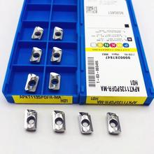 10pcs aluminum cutting blade APKT1135 PDFR MA H01 milling cutter tool turning CNC AL + TIN alloy wood
