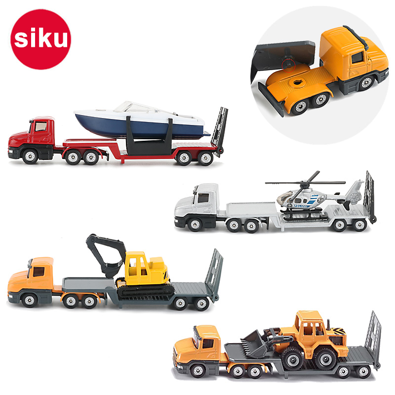 Siku Alloy Truck Toy Trailer Tractors Model Construction Vehicle Excavator Bulldozer Helicopter Funny Cars Toys For Children