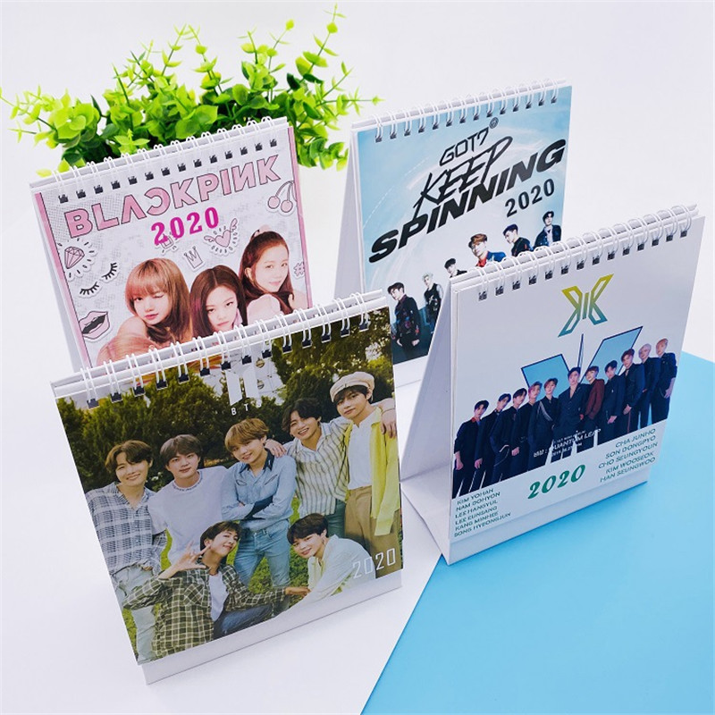 Kpop Blackpink GOT7 X1 Group X ONE 2020 Coil Desk Calendar Desktop-Paper Scheduler Table Planner Memo CalendarS LU6877