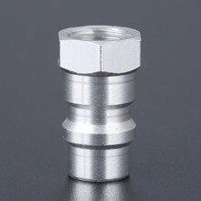 R12 R22 R502 برغي إلى R134A محول تحويل سريع صمام 1/4 بوصة SAE إلى 8v1 موضوع محول سريع صمام الألومنيوم