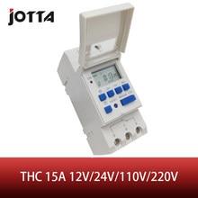 THC 15A 12V 24V 110V 220V dijital LCD haftalık programlanabilir dijital zamanlayıcı anahtarı zaman rölesi