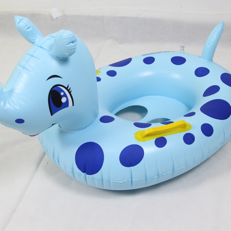 Cute Cartoon Baby Swimming Ring Safty Ride-on Float Inflatable Infant Kids Swimming Pool Rings Water Toys Swim Circle