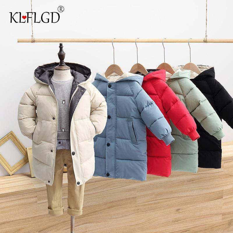 Зимняя детская стеганая куртка, новинка 2020, утепленная стеганая куртка с длинным рукавом и капюшоном для мальчиков и девочек