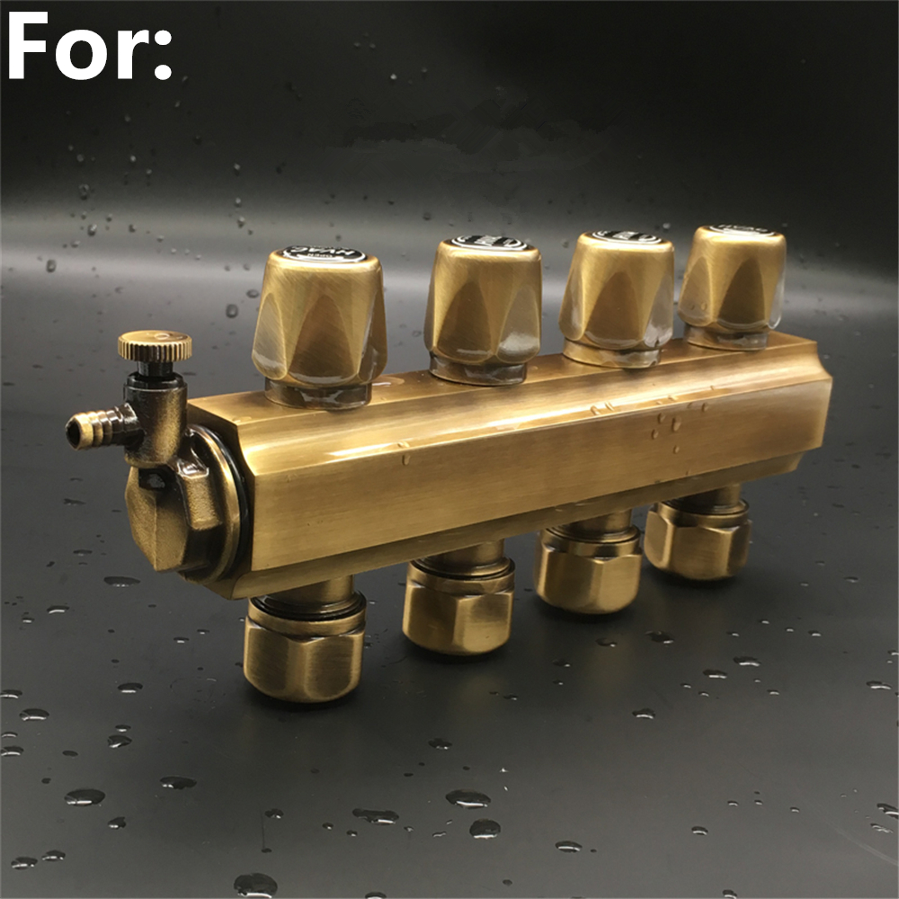 Floor Heating Sub-collector Floor Heating Pipe Automatic Temperature Control Intelligent Water Separator All Copper Thickening
