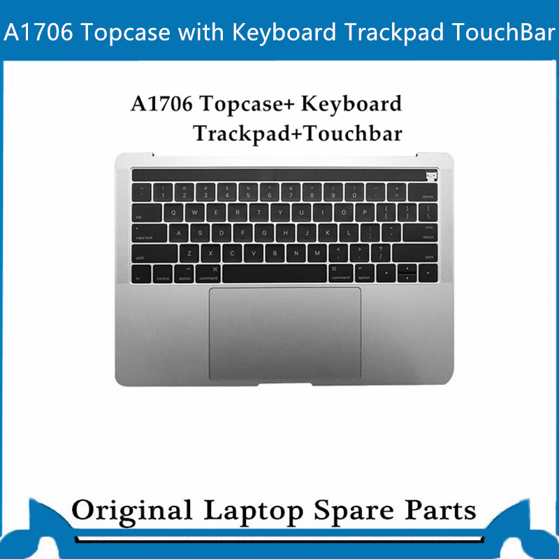 Original Top Case For Macbook Pro Retina A1707 A1706 A1708 Palmrest With Keyboard Trackpad 13' 15 ' US Gray Sliver 2016-2017