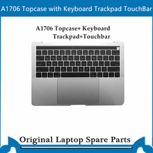 Original Top case for Macbook Pro Retina A1707 A1706 A1708 Palmrest with keyboard trackpad 13′ 15 ' US Gray Sliver 2016-2017