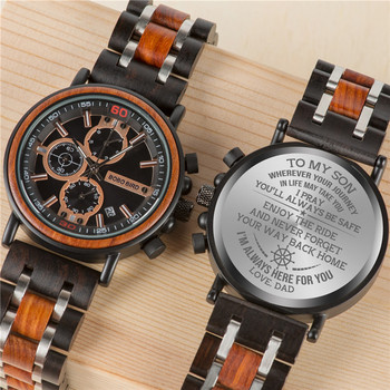 Customized BOBOBIRD Wood Watch Engrave Your Personalized Logo On The Back Cover relogio masculino Gift With Wooden Box 1