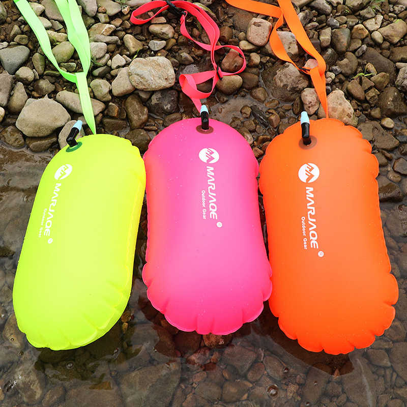 1X PVC Swimming Buoy Safety Air Dry Tow Bag Float Inflatable Signal Drift Bag S1