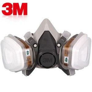 3 3M 6200 Máscara de Gás com 6001 Cartucho de Filtro de Vapor Orgânico Respirador Anti-Embaçamento Pesticida Pintura de Pulverização Rosto máscaras