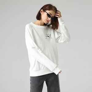 Image 3 - Toyouth New Cartoon Printed Long Sleeve Hoodies Women Casual Round Neck Long Sleeve Sweatshirts