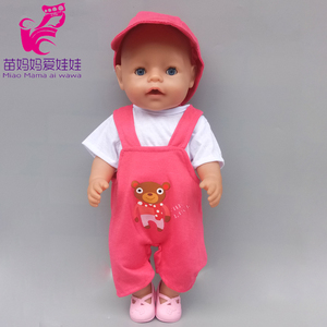 18 inch Doll clothes Party dress + Coat pear necklace for 43cm Baby new Born dolls outwear dress set