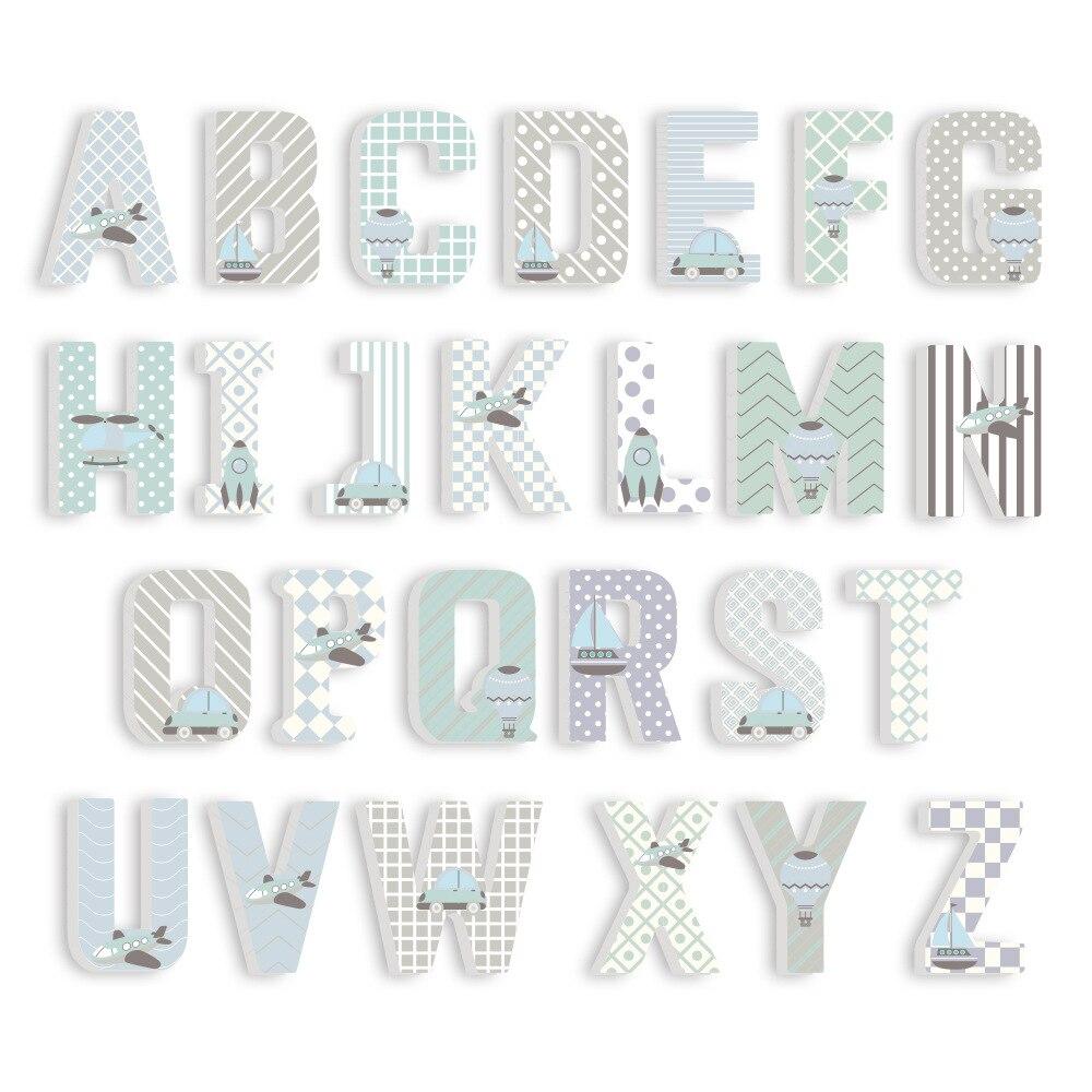 3D PVC Uppercase English Alphabet Letter Stickers Kid's Room Decoration Kindergarten Playground Nursery Decorative Letters