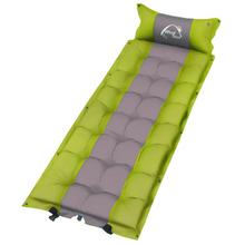 5CM Thicken Self Inflating Camping Mattress Outdoor Picnic Inflatable Mat Sleeping Pad Moisture Proof Portable Bed With Pillow wnnideo 2 person camping pad with pillows self inflating damp proof durable lightweight for outdoor activies carry bag included