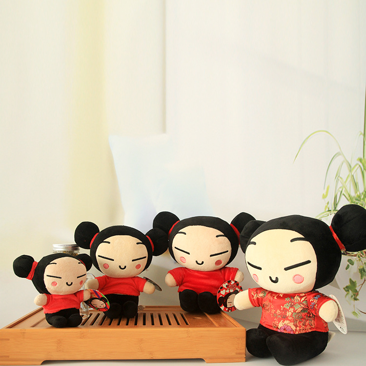 China Doll Puka Pucca Card Lu Gal-Animation Related Products Wedding Mascot Cartoon Plush Doll