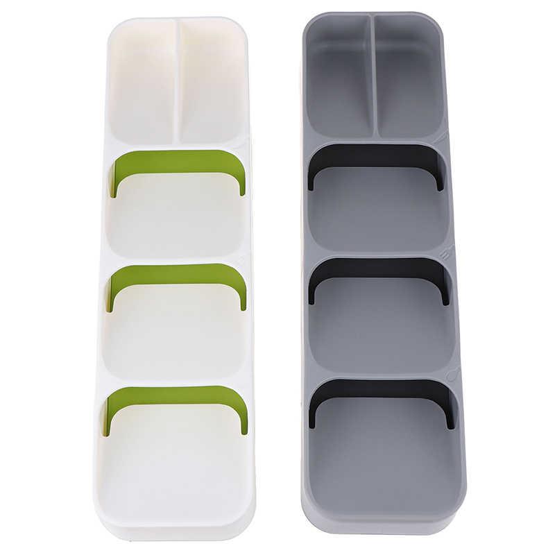 Bandeja cuchara cubertería separación acabado caja de almacenamiento accesorios de organización para cocina organizador práctico organizador de cajones
