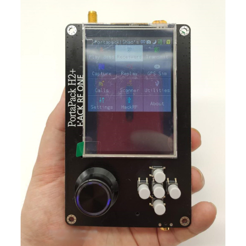Latest Version PORTAPACK H2 For HACKRF ONE SDR Software Defined Radio + 0.5ppm GPS TXCO + 3.2 inch Touch LCD +1500mAh battery