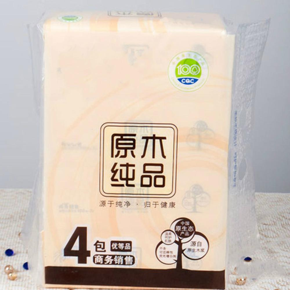 Facial Tissue Paper Soft Primary Wood Pulp Pumping Paper 100 Pumping 3 Layers Toilet Paper Pumping Napkin Paper 4 Bags/lot
