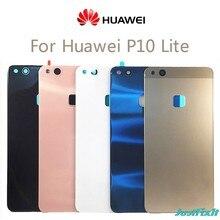 Części zamienne do huawei P10 Lite/Nova Lite szklana pokrywa dla Huawei P10 Lite powrót pokrywa baterii obudowa z naklejki samoprzylepne