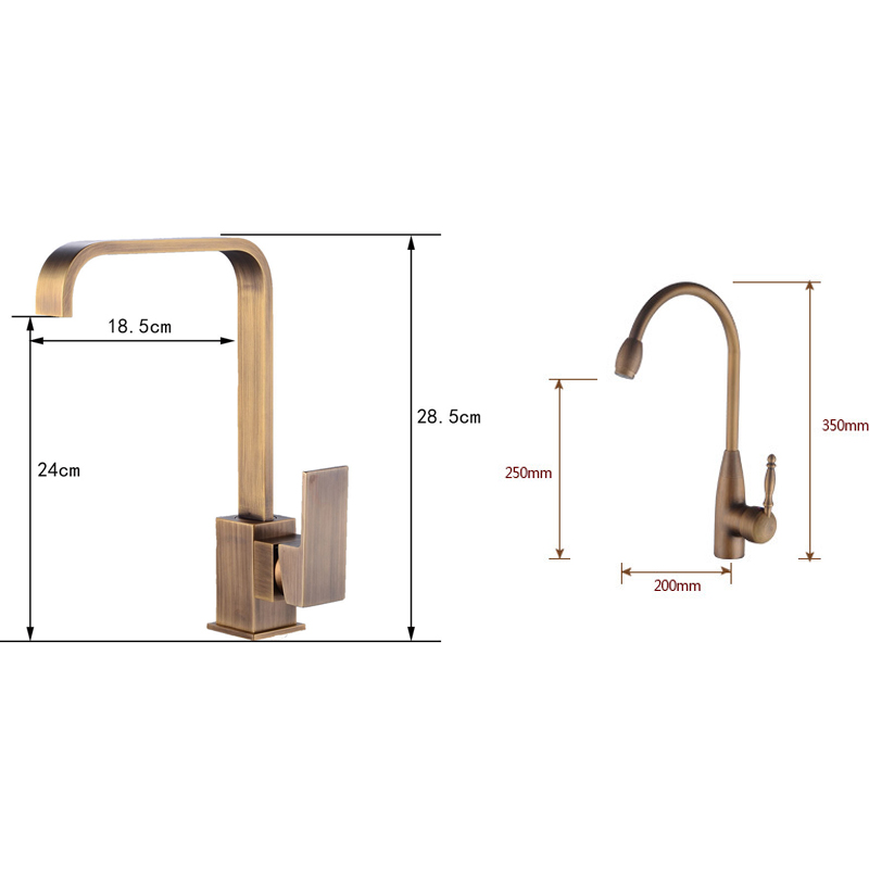 Mitigeur Cuisine Kitchen Sink Vintage Faucet Hot Cold Water Mixer