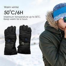 1 пара электрических нагревательных перчаток с батареями, тепловые перчатки с подогревом для мужчин и женщин, полный палец, зимний ручной лыжный с подогревом, перчатки