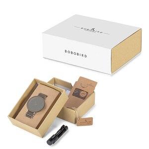 Image 5 - BOBO VOGEL Paar Uhr Holz Band Armbanduhr Männer reloj hombre Bambus Fall Name Gravieren Grooms Geschenk in Box Dropshipping Anpassen