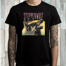 Steppenwolf Born To Be Wild Rock Band Uomo Nero T-Shirt Taglia S M L Xl 2Xl 3Xl Fresco Regalo di Personalità tee Shirt(China)