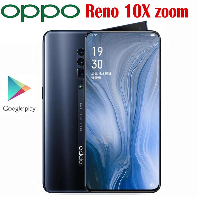 Official Original Oppo Reno 10X Zoom Mobile phone Snapdragon 855 Octa Core 6.6inch AMOLED 48MP Camera 4065Mah SupperVOOC3.0 NFC|Cellphones| - AliExpress