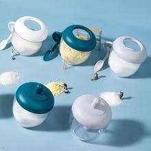 Seasoning Pot Plastic Kitchen Scoop-Cover Food-Grade Integrated New