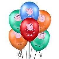 Figuras de Peppa Pig, globos de dibujos animados suministros de decoración para fiesta, conjunto de vajilla familiar George, accesorios de regalo de decoración para bebés y niños