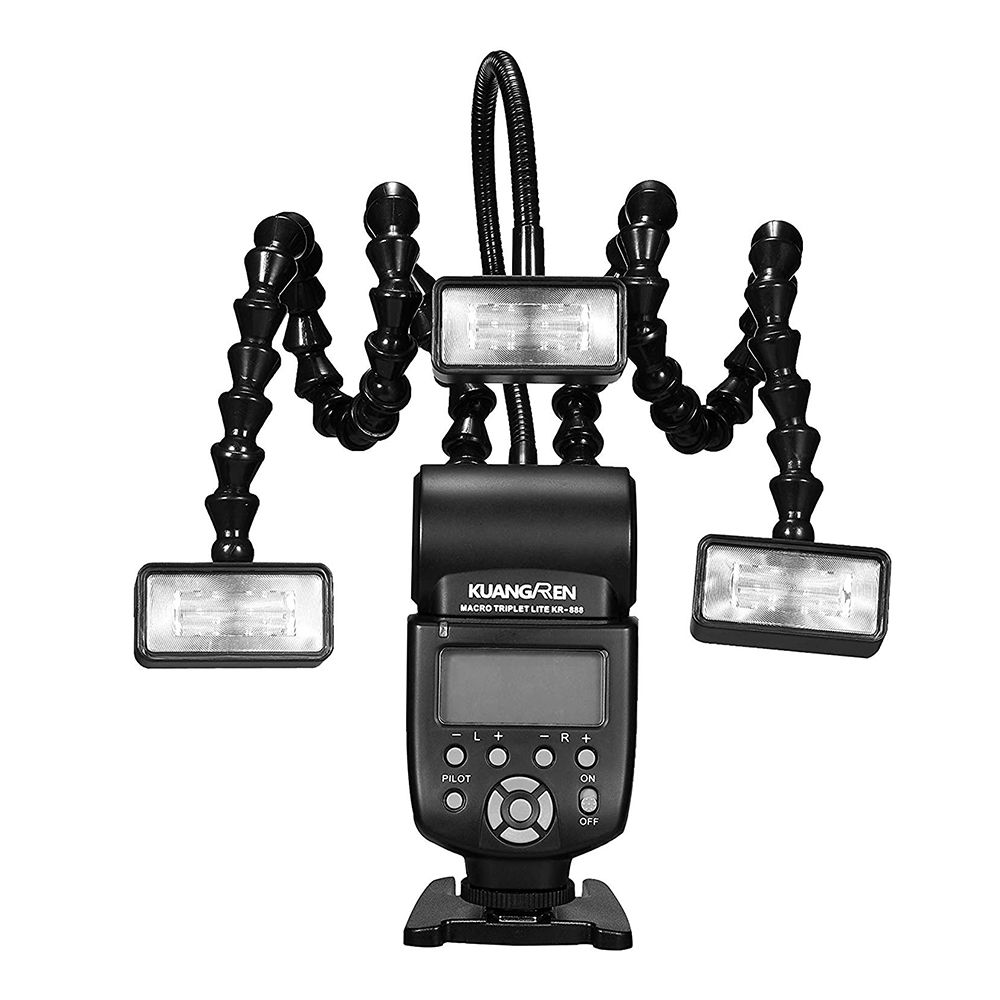 Светодиодная Макросъемка KR888 для Canon, Nikon, Panasonic, Olympus, Pentax, Sony DSLR