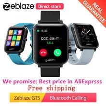 Zeblaze GTS fitness Relógios bluetooth Chamando Relógio Inteligente Receber/Fazer Chamadas Modos 60+ Relógio Enfrenta Pulseira Inteligente smartwatch Homens Smartwatches Femininos Relógio de Pulso para iOS Android