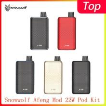 Новейший Snowwolf Afeng Mod 22 Вт Pod Kit питание от одной батареи 18650 с MTL& DTL Vaping style vape kit