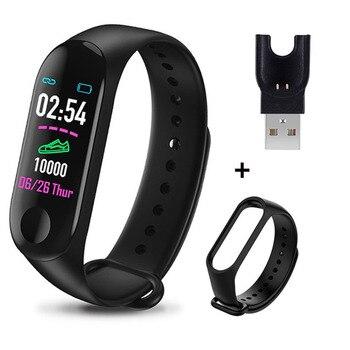 M3 Plus Smart Bracelet Heart Rate Blood Pressure Health Waterproof Smart Watch M3 Pro Bluetooth Watch Wristband Fitness Tracker 22