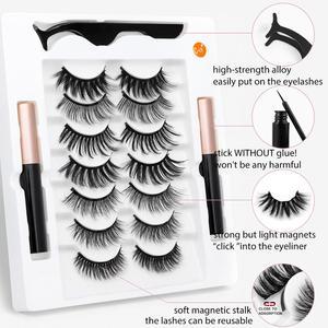 SEXYSHEEP 2/5/7/10 Pairs Magnetische Wimpern Set Wasserdicht Magnet Eyeliner Lang Anhaltende Natürliche Magnetische Wimpern Falsche Make-Up