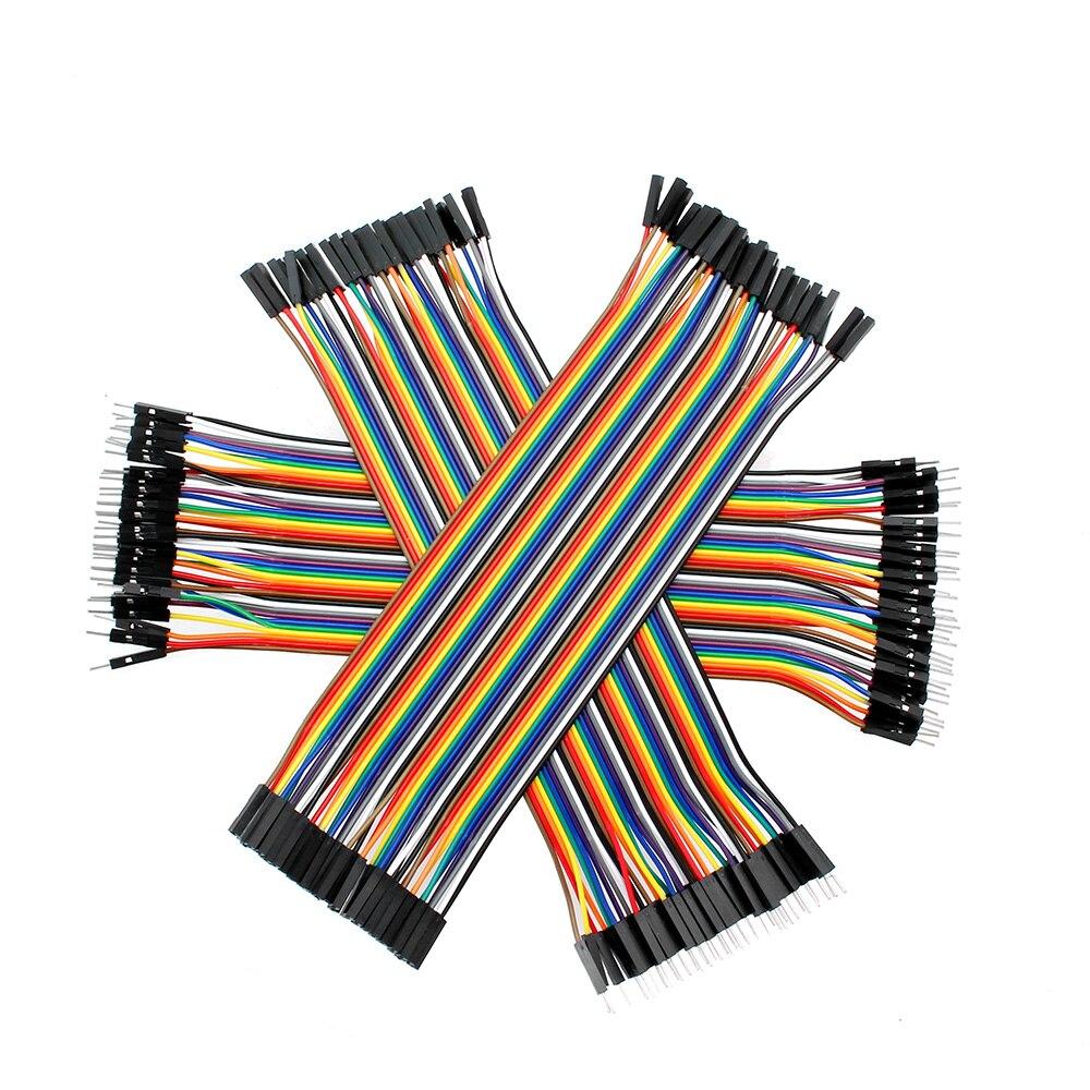 Электрический кабель Dupont, джампер, провод, медный штекер-штекер, гнездо-штекер, гнездо-гнездо, Dupont провод 30 20 10 см для Arduino, Набор для творчест...