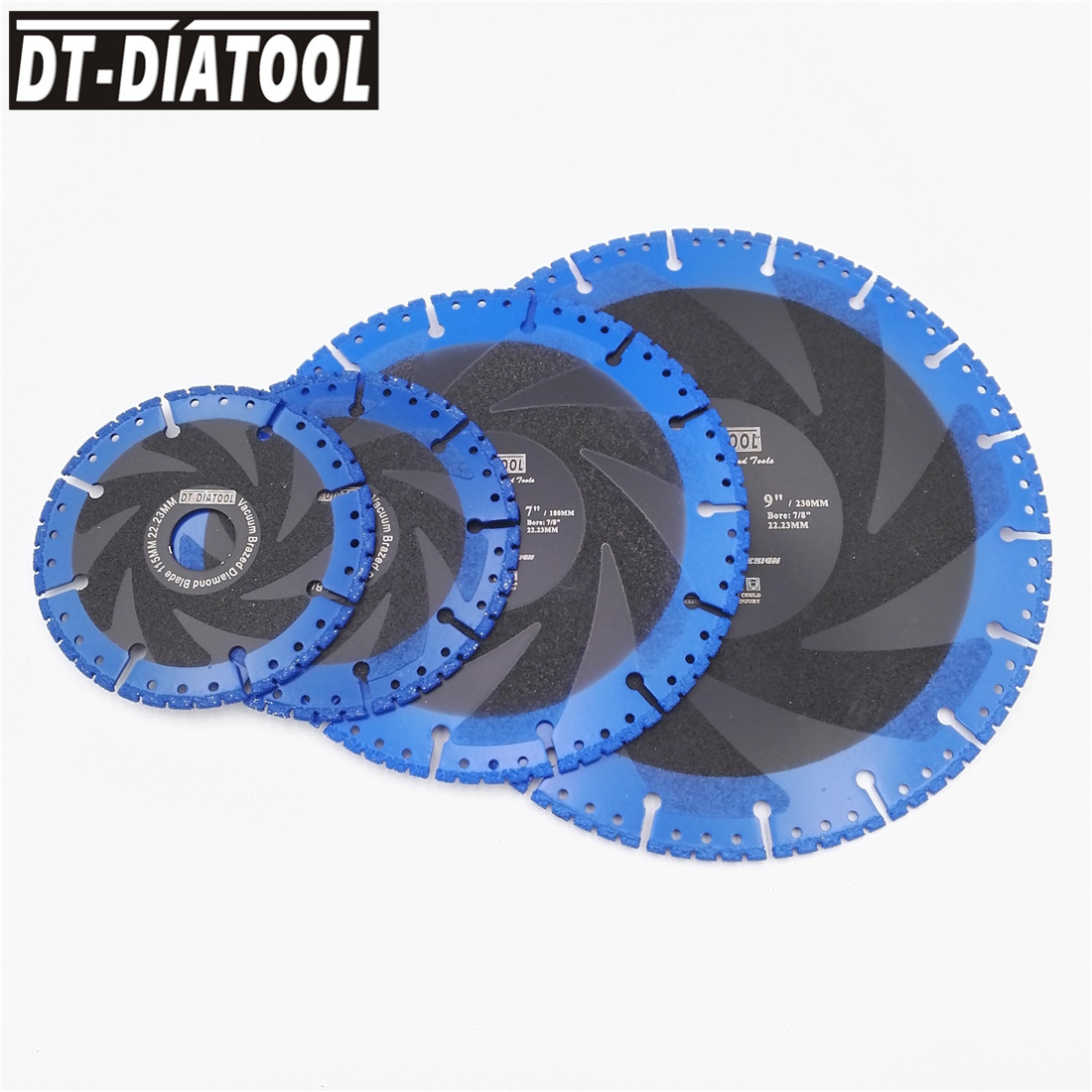 DT-DIATOOL Vacuum Brazed Diamond Demolition Saw Blade Cutting Disc Multi Purpose Rescue Blade For Cast Iron Steel Metal Plastic