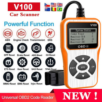 V100 Obd2 Car Diagnostic Tool OBD 2 Automotive Scanner Engine Analyzer Tool Code Reader Obdii Scan Tool launch x431 cr3008 obd2 automotive scanner obdii code reader diagnostic tool check engine battery voltage free update pk kw850