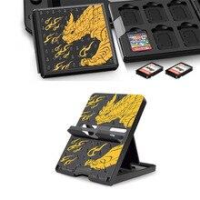Trò Chơi Thẻ Bảo Quản Hộp Đựng Giá Đỡ Cứng Dùng Cho Monster Hunter Tăng Nintend Switch NS Lite Gắn Thẻ Nhớ SD phụ Kiện