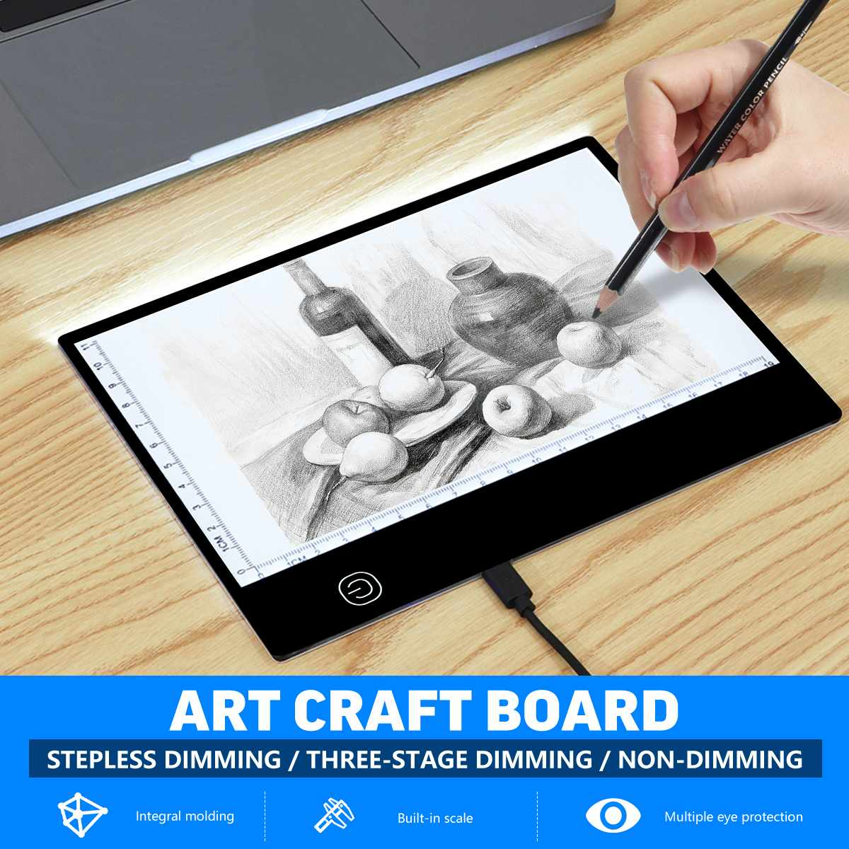 Digital Graphic Tablet <font><b>A5</b></font> <font><b>LED</b></font> <font><b>Light</b></font> Box <font><b>Pad</b></font> Board Art Craft Copy Drawing Tracing Tattoo Display Board USB Electronic Panel image