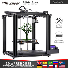 Impresora 3D de alta precisión Ender 5 placa de construcción magnética de gran tamaño, apagado de potencia, reinicio fácil Biuld Creality 3D filamentos + Hotbed + SD