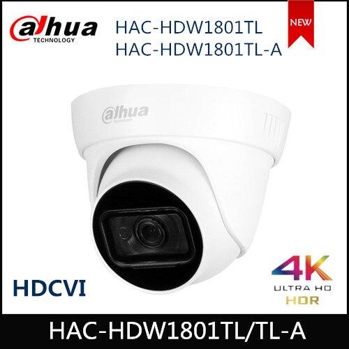 Dahua HDCVI Camera Lite Plus Series 4K HAC-HDW1801TL HAC-HDW1801TL-A Built In MIC Waterproof IP67 2.8mm 3.6mm Coaxial Camera