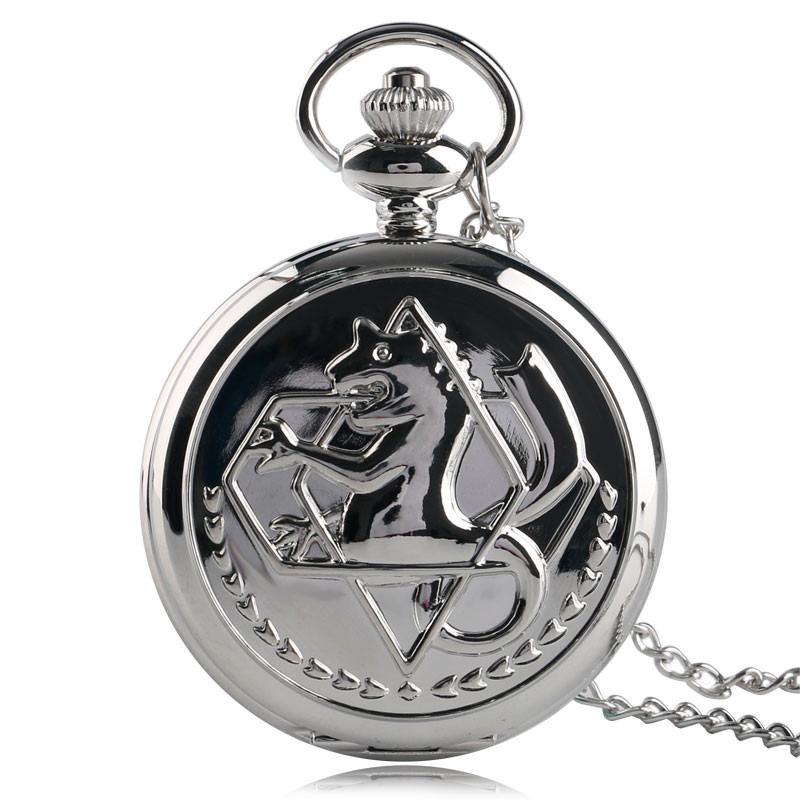 Fashion Classic Pocket Watch Animate Fullmetal Alchemist Design Quartz Analog Pendant Men Women Clock Gift Relogio De Bolso