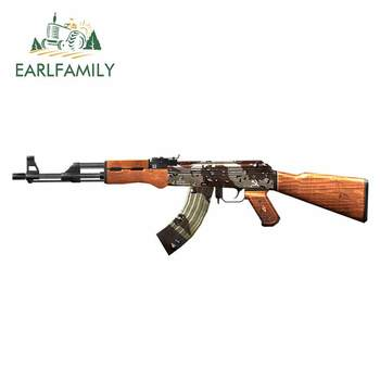 EARLFAMILY 13cm x 3.7cm for AK47 Camol Crossfire Anime Car Stickers Vinyl JDM Bumper Trunk Truck Graphics 3D DIY Fine Decal image