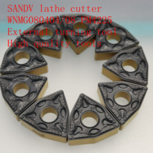 SANDV high quality lathe tool WNMG080404/WNMG080408 PM4225 carbide tool, external turning CNC R0.4 finishing