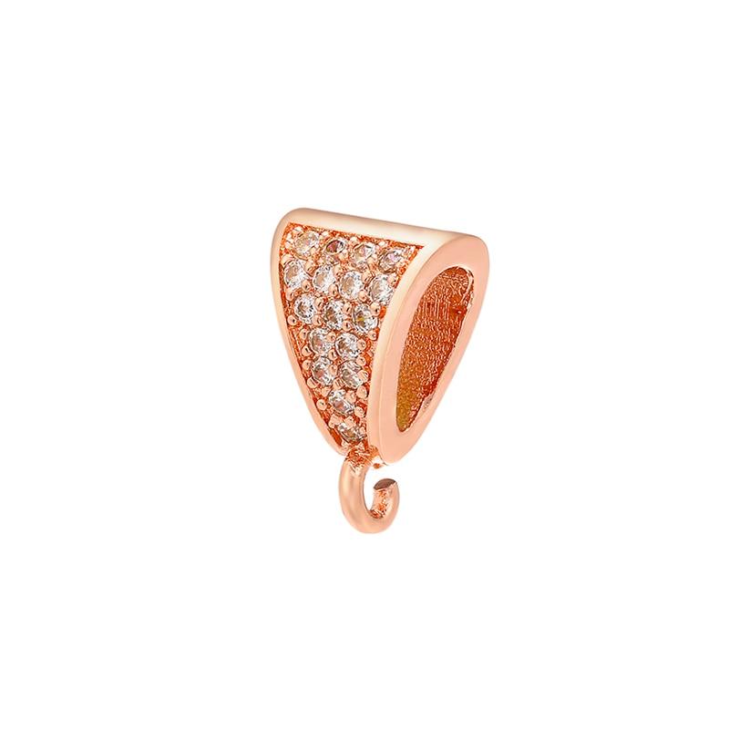 ZHUKOU 8x12 мм кристалл неправильной формы застежка крючки для женщин DIY ручной работы ожерелье серьги ювелирные аксессуары Модель: VK83 - Цвет: rose gold